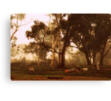 Winters Foggy Morn Canvas Print
