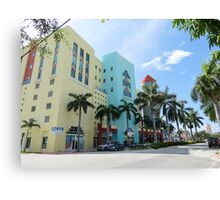 Colorful buildings. Canvas Print