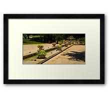 Fountain Plaza Framed Print