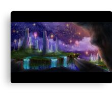 The Night the Stars Were Released Canvas Print