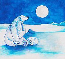Polar Bear Christmas by ElysianImagery