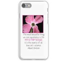 Pink Flower with Quote iPhone Case/Skin
