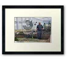 Maroubra, the high school, the fifties, the hostel, time's moved on.  Framed Print
