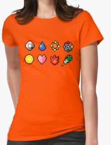 Indigo League Badges Womens Fitted T-Shirt