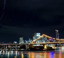 Star Trails In Brisbane by Paul Cull