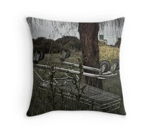 Dead Cart Throw Pillow