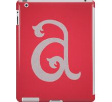 Lowercase A iPad Case/Skin