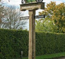 Village Sign, Wimborne St Giles Sticker
