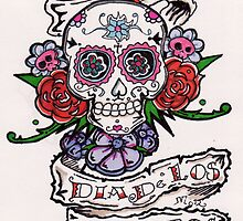 dia de los muertos( day of the dead) with flores by mojittto