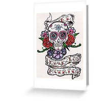 dia de los muertos( day of the dead) with flores Greeting Card