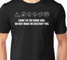 DORK SIDE WITH NERD DICE. Unisex T-Shirt