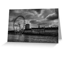London 009 BW Greeting Card
