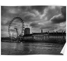 London 009 BW Poster