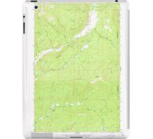 USGS Topo Map Washington State WA Aladdin 239771 1966 24000 iPad Case/Skin