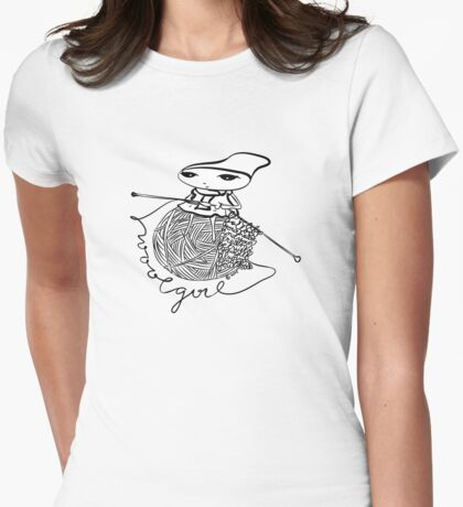 wool girl Womens Fitted T-Shirt