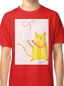 Yellow Cat Playing Flute Classic T-Shirt