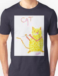 Yellow Cat Playing Flute Unisex T-Shirt