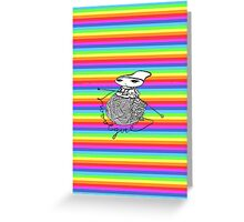 wool girl Greeting Card