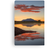Red Over Head Canvas Print