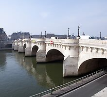 """Paris """"Pont Neuf"""" new bridge early in the morning by Pat Garret"""