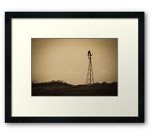 Windmill - Well Plains, QLD Framed Print