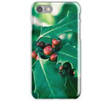 Holly bush with red berries II iPhone Case/Skin