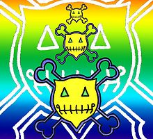 Percentum Skull & Xbones (rainbow) by PercentumDesign