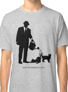 Man Watering Cats Classic T-Shirt
