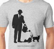 Man Watering Cats Unisex T-Shirt