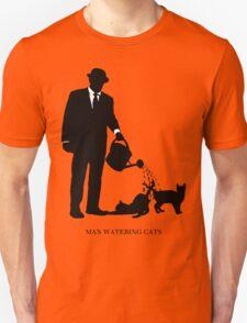 Man Watering Cats T-Shirt