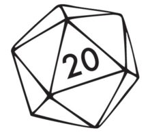 Chaotic Neutral Character alignment d20 Sticker