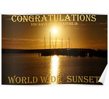 This is a Banner for Worldwide Sunsets challenge Poster