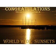 This is a Banner for Worldwide Sunsets challenge Photographic Print
