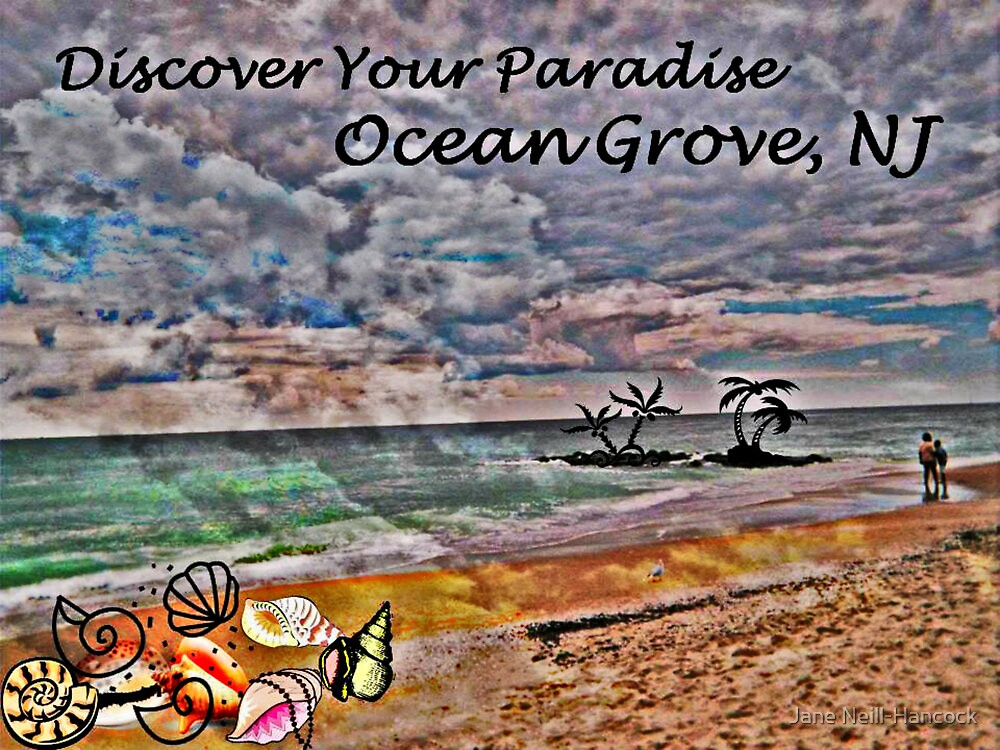 Postcard Fun - Paradise Ocean Grove by Jane Neill-Hancock