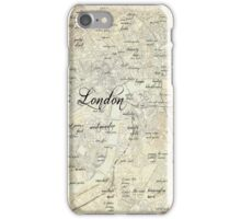 Steampunk London Map iPhone Case/Skin