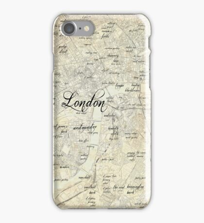 Steampunk London Map iPhone Case/Skin