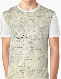 Steampunk London Map Graphic T-Shirt