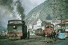 Steam engines Greymouth NZ 196503090099  by Fred Mitchell