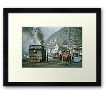 Steam engines Greymouth NZ 19650309 0099  Framed Print