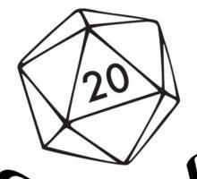 Neutral Good Character Alignment d20 Sticker