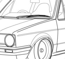 MK1 Golf Line Sticker