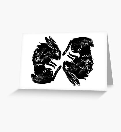 Wit and Bun Deux Greeting Card