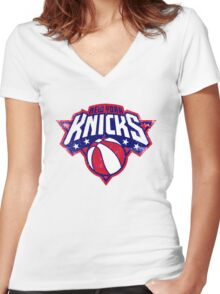 Knicks New york sport Women's Fitted V-Neck T-Shirt