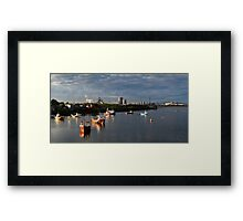 Tranquil morning at Paddy's Hole panorama Framed Print