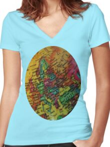 Geography Women's Fitted V-Neck T-Shirt
