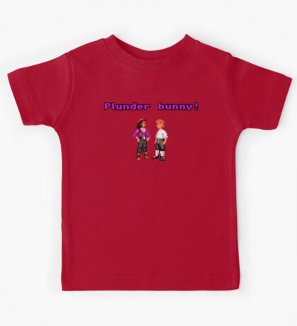 Monkey Island Plunder Bunny Retro Pixel DOS game fan item Kids Tee