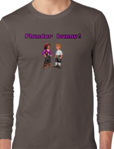 Monkey Island Plunder Bunny Retro Pixel DOS game fan item Long Sleeve T-Shirt