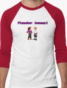 Monkey Island Plunder Bunny Retro Pixel DOS game fan item Men's Baseball ¾ T-Shirt