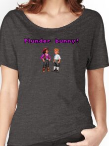 Monkey Island Plunder Bunny Retro Pixel DOS game fan item Women's Relaxed Fit T-Shirt