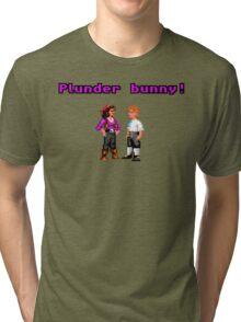 Monkey Island Plunder Bunny Retro Pixel DOS game fan item Tri-blend T-Shirt